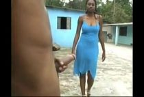Negra brasileira fazendo sexo brutal